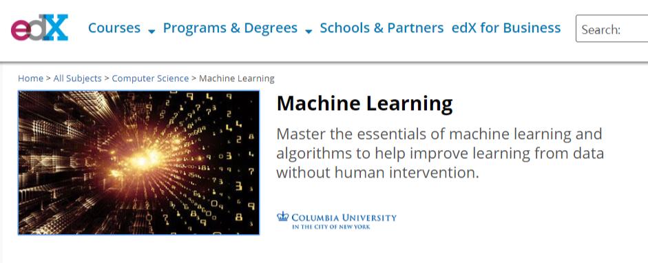 顶级机器学习课程